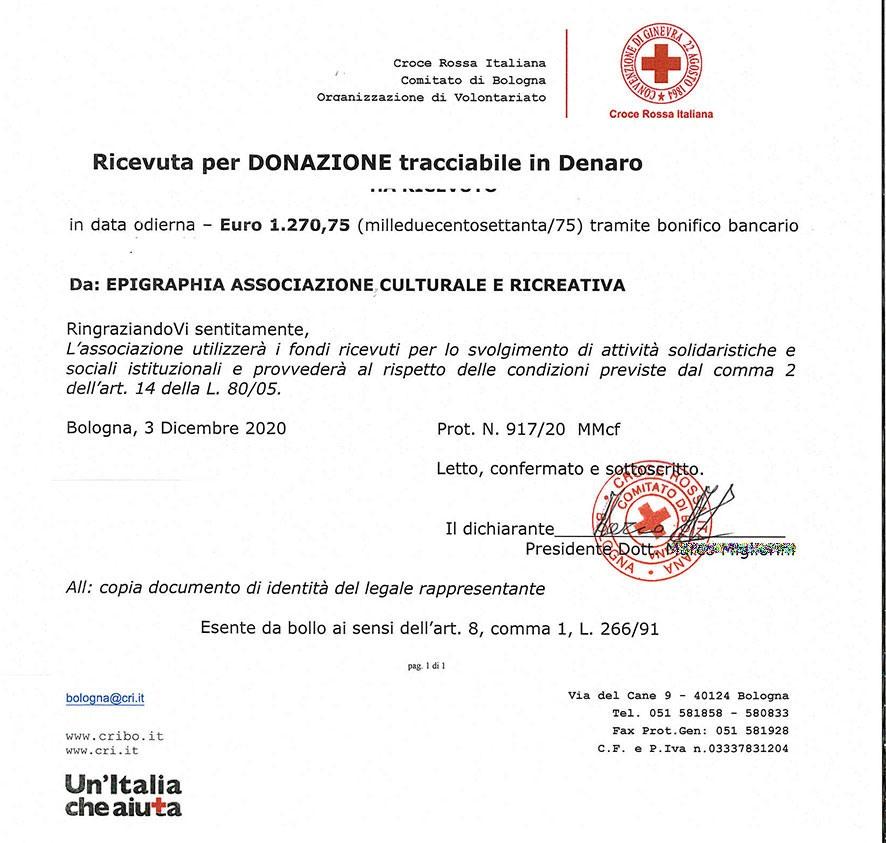 donazione alla croce-rossa-bologna
